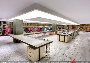 Thi công trần xuyên sáng cửa hàng thời trang đẹp