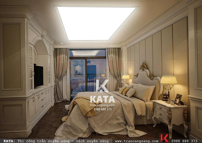 trần barisol xuyên sáng phòng ngủ