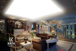 Trần xuyên sáng đẹp cho nội thất phòng khách NO 0132