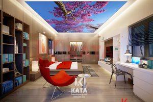 Trần xuyên sáng phòng ngủ đẹp nhất Kata NO 0337
