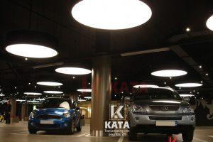 Mẫu hộp đèn xuyên sáng cho gara xe hơi đẹp DA 67012