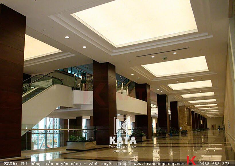 trần barrisol sảnh khách sạn