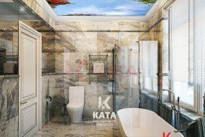 Mẫu trần căng xuyên sáng phòng tắm đẹp NO 0553