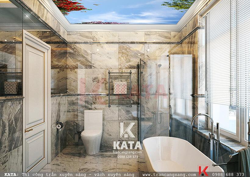 mẫu trần căng xuyên sáng phòng tắm