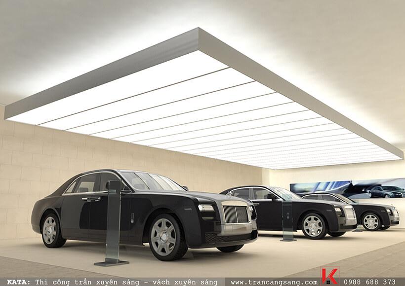 mẫu thiết kế showroom gara oto