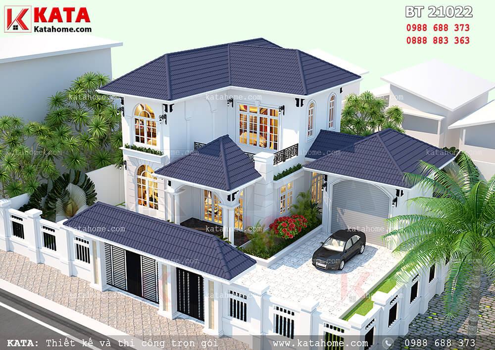 Mẫu nhà biệt thự mini 2 tầng tại Đồng Nai – Mã số: BT 21022 (Nguồn ảnh: Katahome.com)