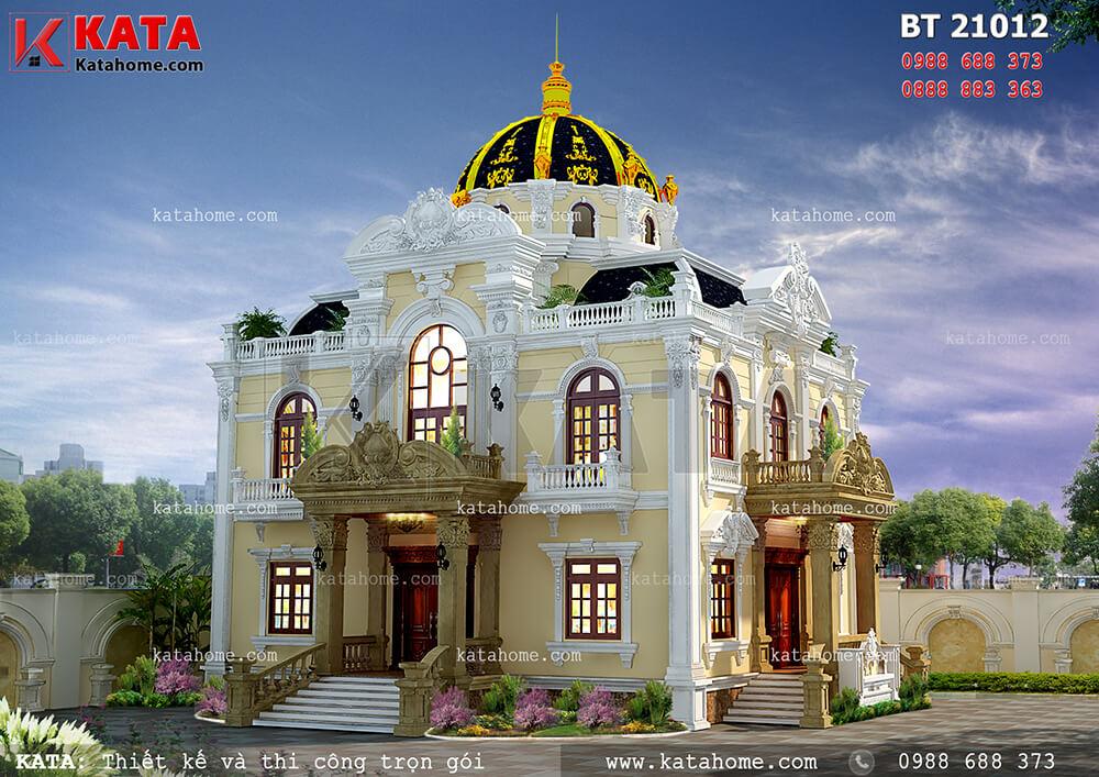Biệt thự 2 tầng kiến trúc tân cổ điển tại Hà Nội – Mã số: BT 21012