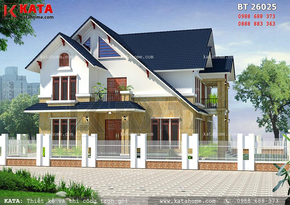 Một góc nhìn của mẫu thiết kế biệt thự đẹp 2 tầng (Nguồn ảnh: katahome.com)