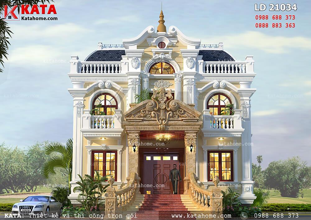 Mẫu biệt thự lâu đài 2 tầng cổ điển tại An Giang – Mã số: LD 21034