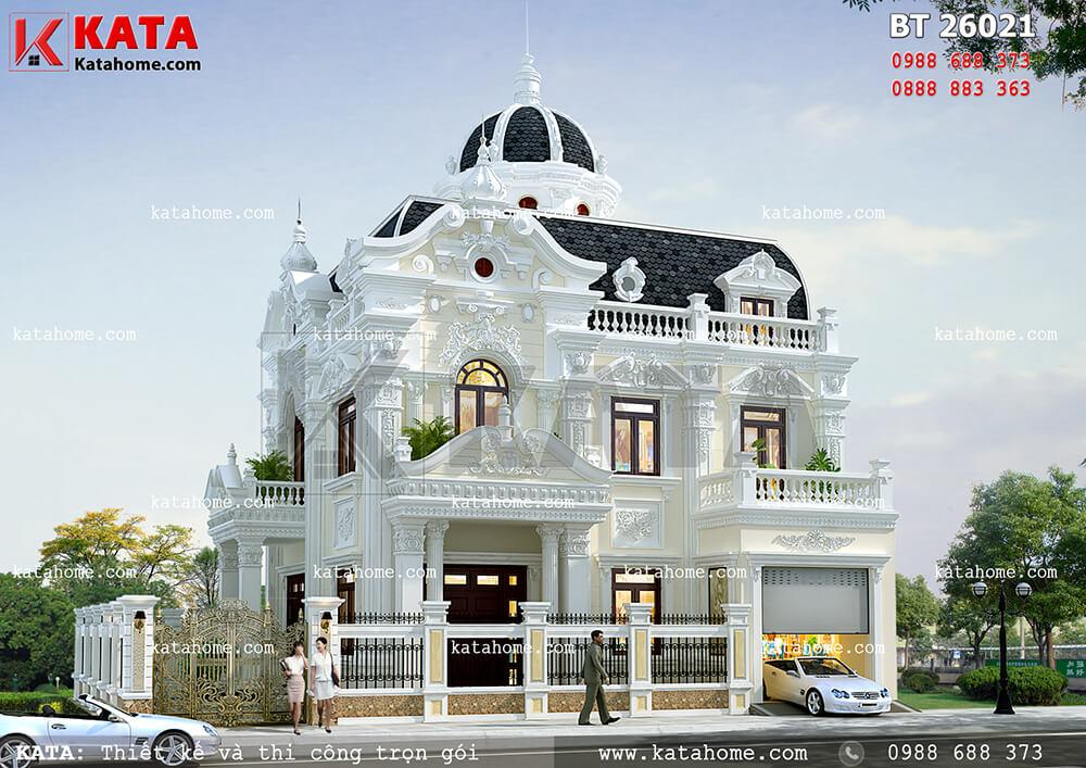 Biệt thự lâu đài 2 tầng tân cổ điển đẹp tại Móng Cái – Mã số: BT 26021