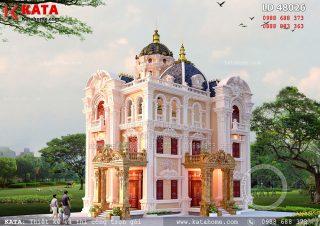 Biệt thự kiểu lâu đài 3 tầng kiến trúc cổ điển Pháp – Mã số: LD 48026