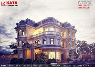 Thiết kế biệt thự 3 tầng kiến trúc Pháp hiện đại – Mã số: BT 37062