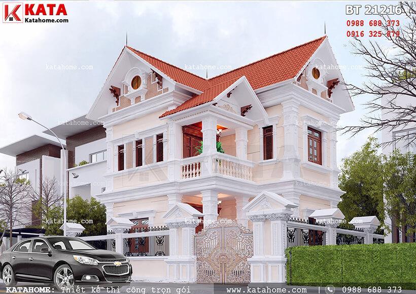 Biệt thự 2 tầng phong cách tân cổ điển tại Hạ Long – Mã số: BT 21216 (Nguồn ảnh: katahome.com)