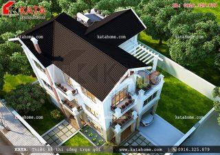 Nhà biệt thự 4 tầng đẹp hiện đại tại Nghệ An – Mã số BT 48054 (Nguồn ảnh: Katahome.com)