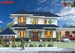 Biệt thự 2 tầng sân vườn kiến trúc hiện đại tại Lào Cai – Mã số: BT 21016 (Nguồn ảnh: Katahome.com)