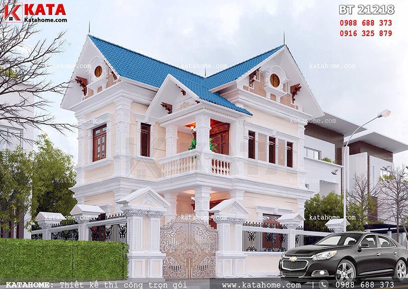 Thiết kế mẫu biệt thự 2 tầng mái thái tại Hải Phòng – Mã số: BT 21218