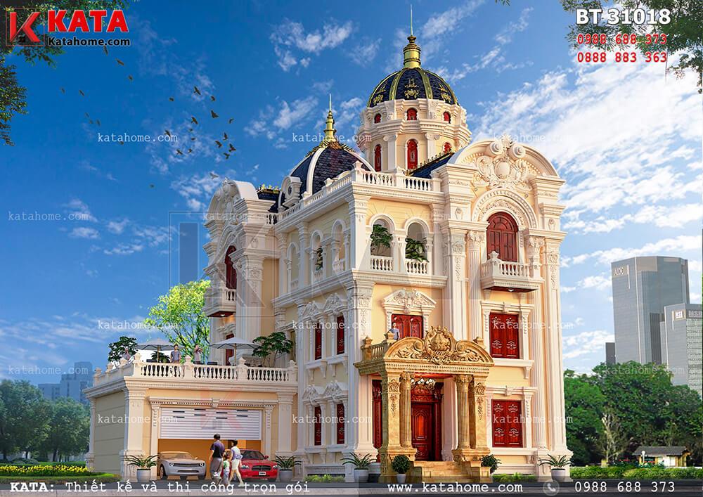Mẫu thiết kế biệt thự lâu đài 3 tầng đẹp tại Ninh Bình – Mã số: BT 31018 (Nguồn ảnh: Katahome.com)
