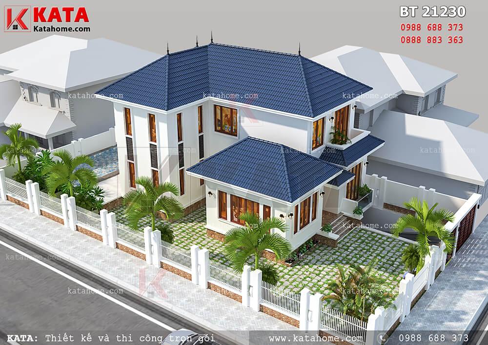 Thiết kế biệt thự vườn 2 tầng mái Thái tại Vĩnh Phúc – Mã số: BT 21230 (Nguồn ảnh: Katahome.com)
