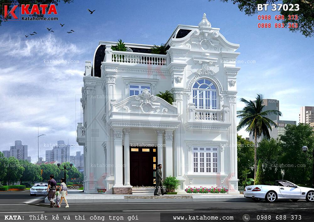 Thiết kế biệt thự 3 tầng tân cổ điển Pháp tại Quảng Ninh – Mã số: BT 37023